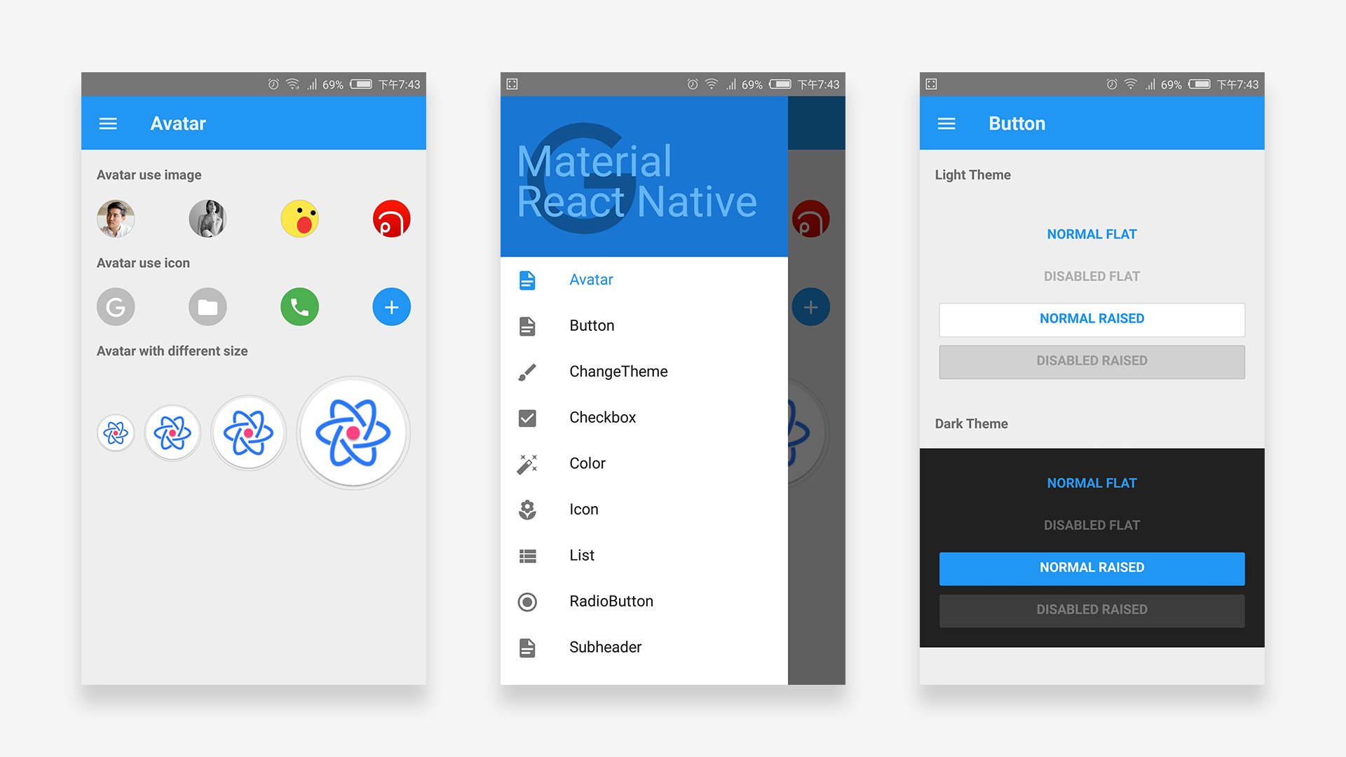 Material Design React Native